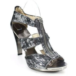 Michael Kors silver Sequins shoes size 9